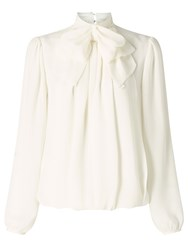 Alice By Temperley Somerset Bow Blouse Ivory