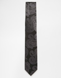 Selected Paisley Tie Grey