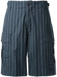 Undercover Striped Shorts Blue