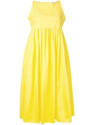 Odeeh Empire Midi Dress Yellow