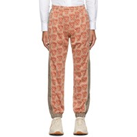 Gucci Orange Tiger Heads Lounge Pants