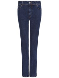 Jaeger Straight Mid Rise Jeans Pale Blue