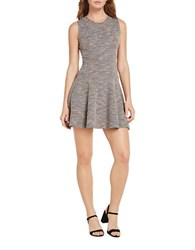 Bcbgeneration Cotton Blend Fit And Flare Dress Grey
