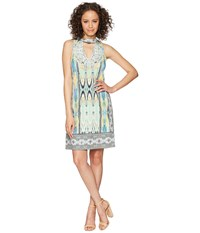 Hale Bob Travel Bright Microfiber Jersey Dress Mint Green