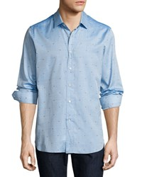 Robert Graham R By Sweet Lips Embroidered Sport Shirt Turquoise