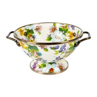 Mackenzie Childs Flower Market Colander Small White