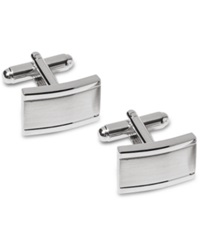 Geoffrey Beene Cufflinks Polished Edges Cufflinks Silver