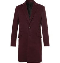Hardy Amies Cashmere Coat Plum
