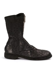 Guidi Zip Front Ankle Boots Black