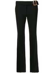 Versace Vintage 1990'S Tailored Flared Trousers Black