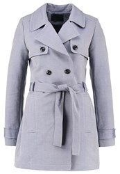 Ikks Trenchcoat Navy Blue Grey