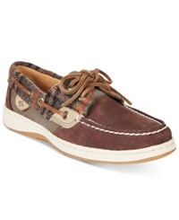 Sperry Women's Bluefish Boat Shoes Women's Shoes Brown Plaid