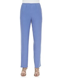Go Silk Solid Pull On Pants Blue