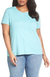 Eileen Fisher Plus Size Women's Organic Cotton Tee Scarb