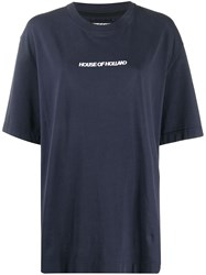 House Of Holland Oversized Logo Embroidered T Shirt 60
