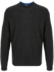 James Perse Crew Neck Jumper Black