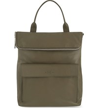 Whistles Verity Leather Backpack Khaki Olive