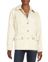 Barbour Summer Beadnell Quilted Jacket Pearl