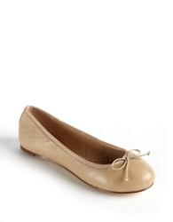 Lord And Taylor Dressen Leopard Print Calf Hair Flats Nude