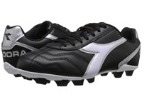 Diadora Capitano Md Black White Silver Soccer Shoes