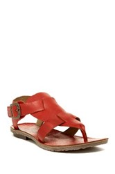 Fly London Bany Ankle Strap Sandal Red