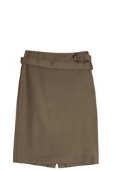 3.1 Phillip Lim Belted Pencil Skirt Green