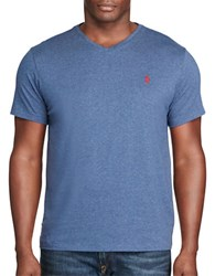 Polo Big And Tall V Neck Cotton Tee Rustic Navy
