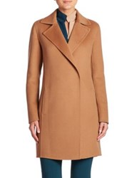 Akris Jasper Double Face Cashmere Coat Camel