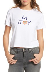 Mother Women's T Time Crop Graphic Tee In Joy
