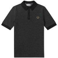 Fred Perry X Miles Kane Jacquard Polo Black