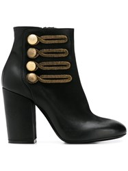 Strategia Military Ankle Boots Black