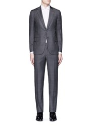 Isaia 'Gregory' Check Plaid Wool Suit Grey