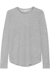 Vince Stretch Jersey T Shirt Gray