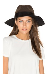 Rag And Bone Wide Brim Fedora Green