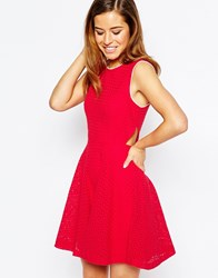 Sister Jane Popsicle Dress With Cut Out Detail Red