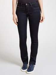Tommy Hilfiger Denim Mid Rise Straight Jeans Niceville Dark Stretch