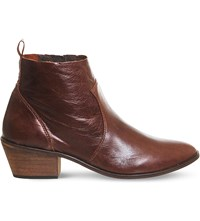 Office Leigh Leather Ankle Boots Brown Leather