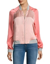 Vero Moda Nicole Colorblocked Bomber Jacket Coral Cloud