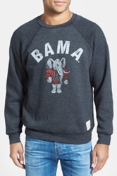 Original Retro Brand 'Alabama Football' Slim Fit Raglan Crewneck Sweatshirt Black