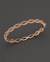 Roberto Coin 18K Rose Gold Single Row Twisted Bangle Bloomingdale's Exclusive Pink
