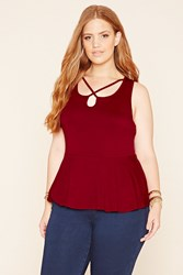Forever 21 Plus Size Cutout Peplum Top