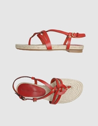 Francesco Morichetti Thong Sandals White