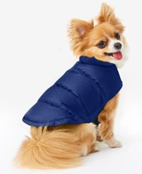 32 Degrees Reversible Down Puffer Coat For Dogs Royal Blue
