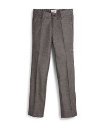 Il Gufo Woven Slim Fit Gabardine Pants Gray