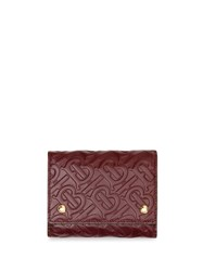 Burberry Small Monogram Leather Folding Wallet Red