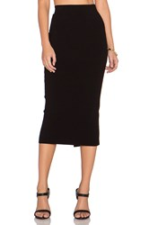 Milly Fitted Pencil Skirt Black
