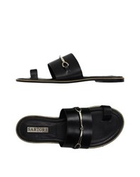 Sartore Footwear Thong Sandals Women Black