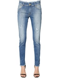 Don't Cry Skinny Heart Pocket Cotton Denim Jeans