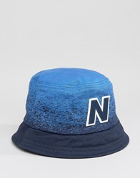 New Balance Graduated Bucket Hat In Navy Navy