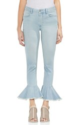 Vince Camuto Ruffle Hem Ankle Jeans Surf Wash